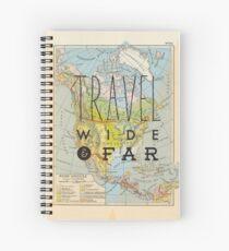 Travel Wide & Far - North America Spiral Notebook