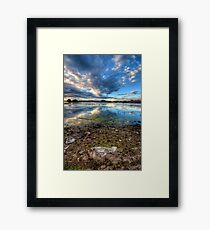 Willow Lake Reflect Blue Portrait-Second Look Framed Print