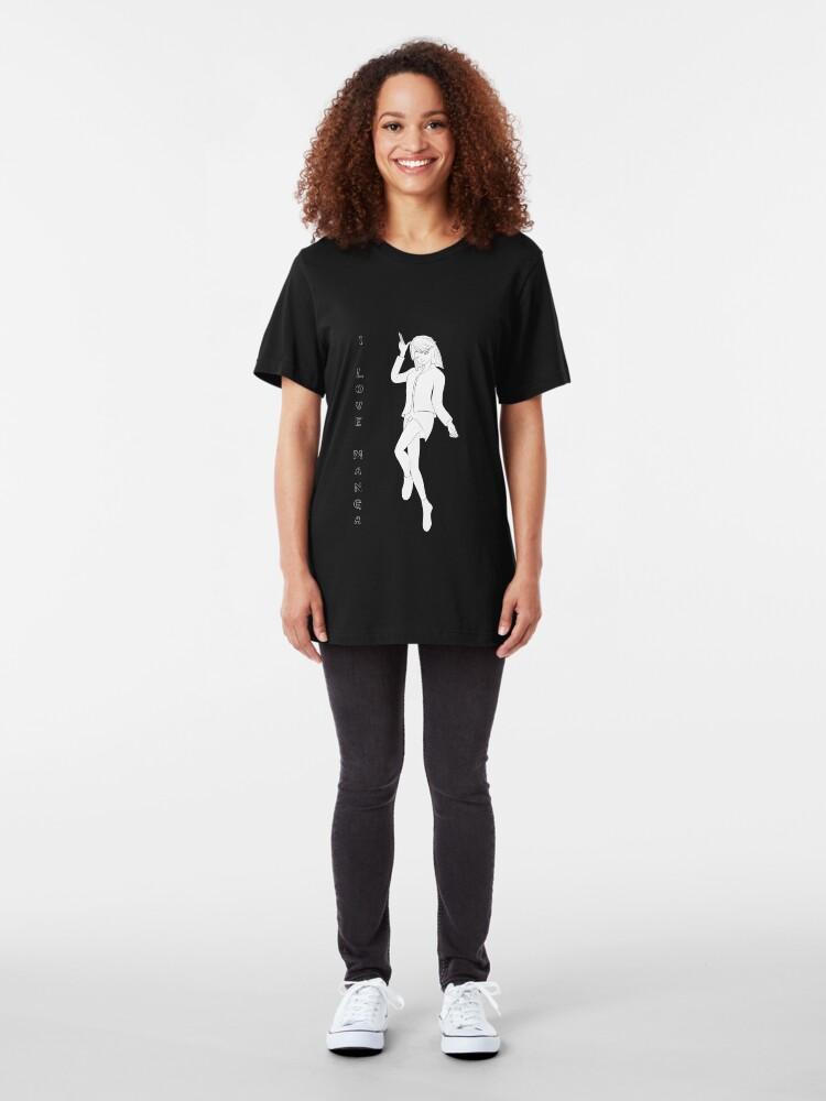 Alternative Ansicht von süßes Manga Mädchen Slim Fit T-Shirt