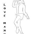 süßes Manga Mädchen von Stefanie Keller