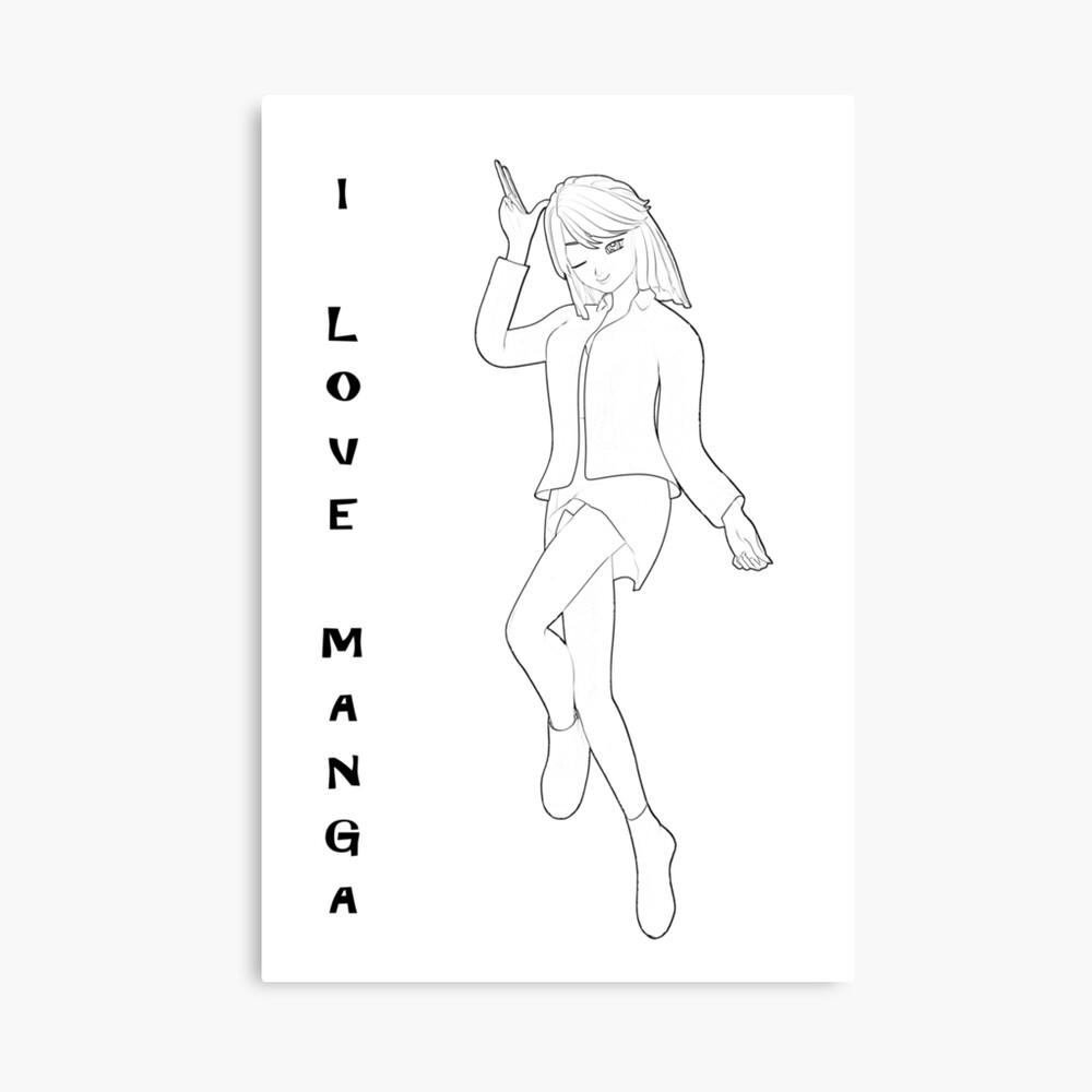 süßes Manga Mädchen Leinwanddruck