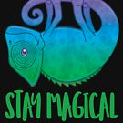 Stay Magical Levitating Chameleon by fizzgig