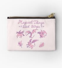 Magical Things With Wings Zipper Pouch
