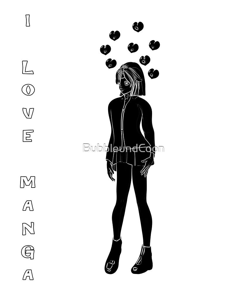 Silhouetten Manga Shirt von Stefanie Keller