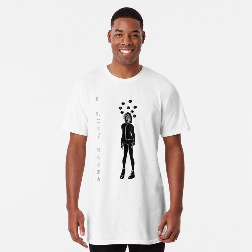 Silhouetten Manga Shirt Longshirt