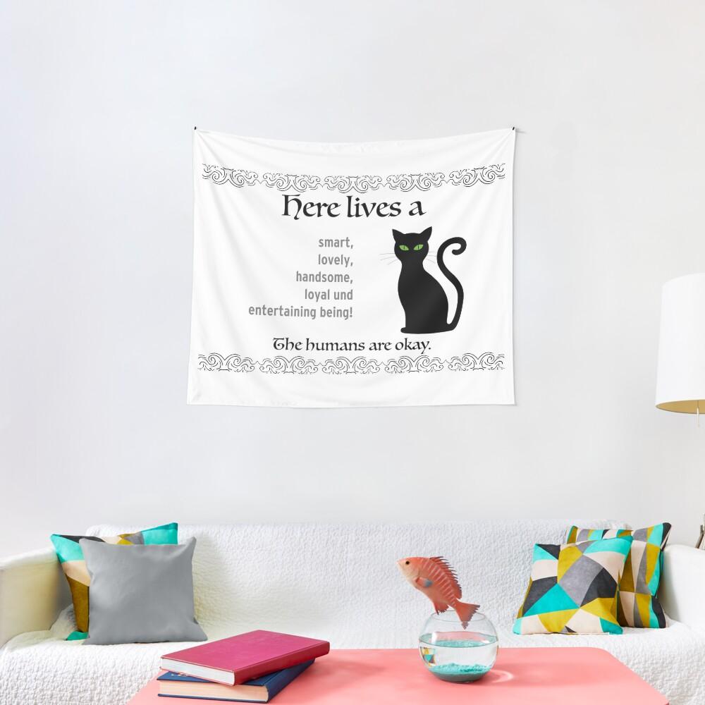 Idée Cadeau Pendaison De Crémaillère oeuvre de décoration de propriétaire de chat - idée cadeau de pendaison de  crémaillère | tentures