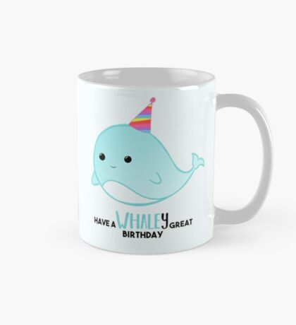 Have a WHALEy great Birthday - Whale Puns - Birthday Puns - Whale Design - Funny - Adorable - Party - Birthday Hat Mug