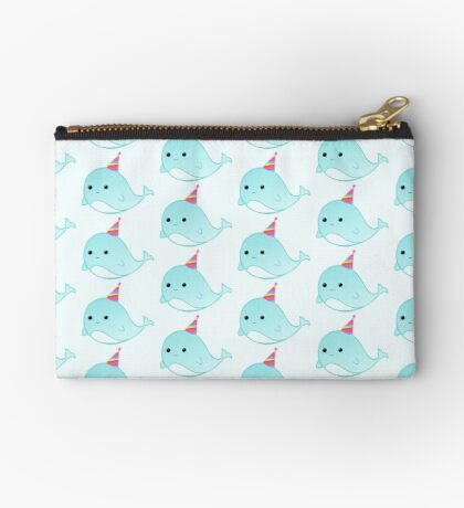 Have a WHALEy great Birthday - Whale Puns - Birthday Puns - Whale Design - Funny - Adorable - Party - Birthday Hat Zipper Pouch
