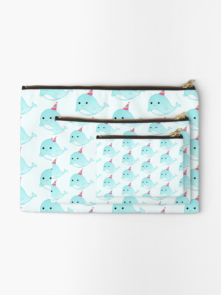 Alternate view of Have a WHALEy great Birthday - Whale Puns - Birthday Puns - Whale Design - Funny - Adorable - Party - Birthday Hat Zipper Pouch