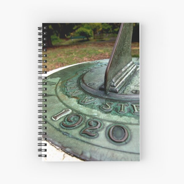 Tempus fugit in the garden Spiral Notebook