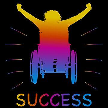 Success Wheelchair Wheelchair Handicap Handicap Gift by Netsrikfa