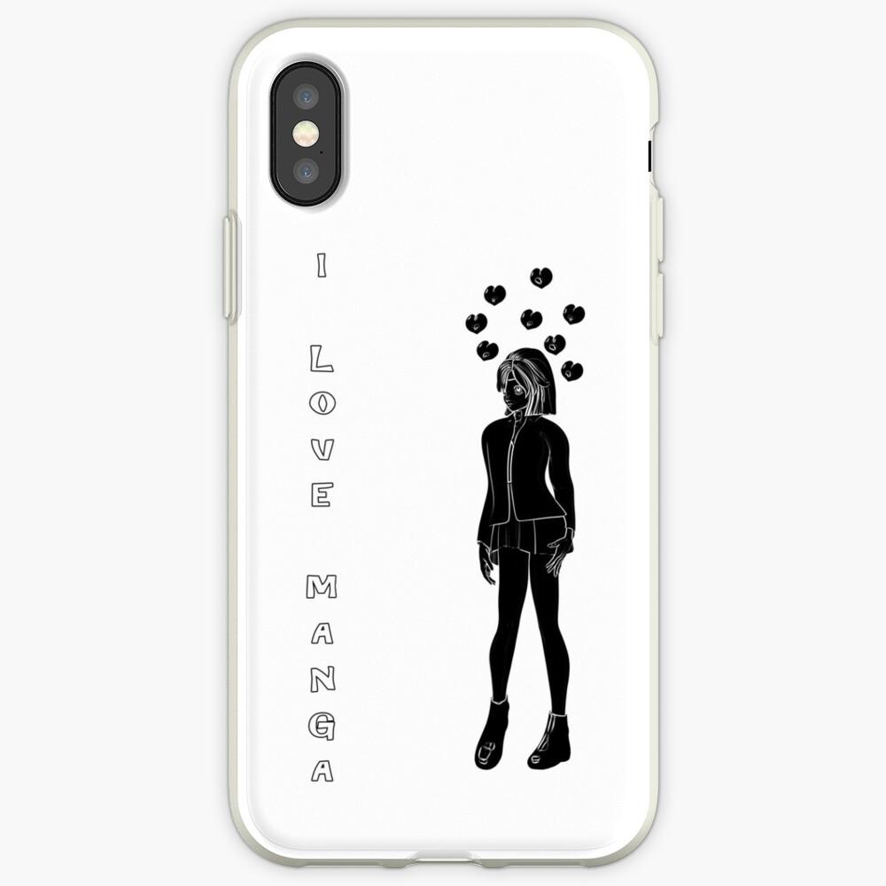 Silhouetten Manga Shirt iPhone-Hüllen & Cover