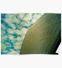Opera House Tiles and Sky Poster