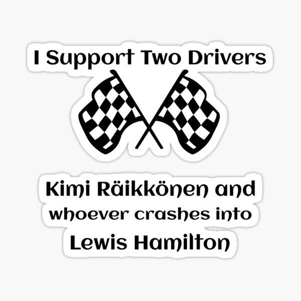 Kimi Raikkonen Wrecks Lewis Hamilton Formula One  Sticker