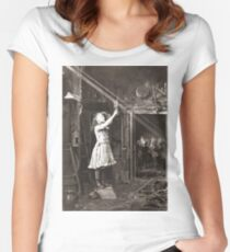 Striking Historical Photo That Bring the Past to Life #HistoricalPhoto #Historical #Photo #vintage #clothing, #people, #adult, #group, #child, #vertical, #brown, #photography, #clothing, #women, #men Women's Fitted Scoop T-Shirt