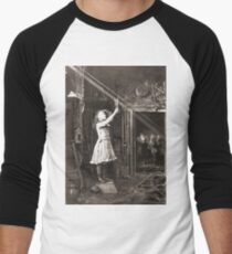 Striking Historical Photo That Bring the Past to Life #HistoricalPhoto #Historical #Photo #vintage #clothing, #people, #adult, #group, #child, #vertical, #brown, #photography, #clothing, #women, #men Men's Baseball ¾ T-Shirt