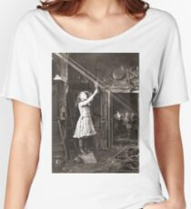 Striking Historical Photo That Bring the Past to Life #HistoricalPhoto #Historical #Photo #vintage #clothing, #people, #adult, #group, #child, #vertical, #brown, #photography, #clothing, #women, #men Women's Relaxed Fit T-Shirt