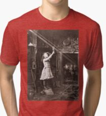 Striking Historical Photo That Bring the Past to Life #HistoricalPhoto #Historical #Photo #vintage #clothing, #people, #adult, #group, #child, #vertical, #brown, #photography, #clothing, #women, #men Tri-blend T-Shirt