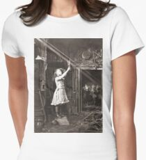 Striking Historical Photo That Bring the Past to Life #HistoricalPhoto #Historical #Photo #vintage #clothing, #people, #adult, #group, #child, #vertical, #brown, #photography, #clothing, #women, #men Women's Fitted T-Shirt