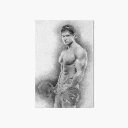 Bodybuilder Dave sketch Art Board Print