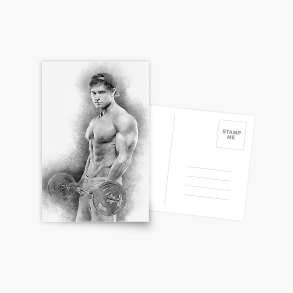 Bodybuilder Dave sketch Postcard