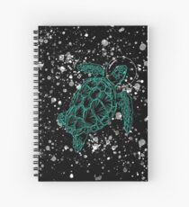 The Flying Turtle in the Space funny Animals lovers Gift Spiral Notebook