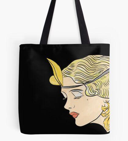 1920s Blond Flapper Tote Bag