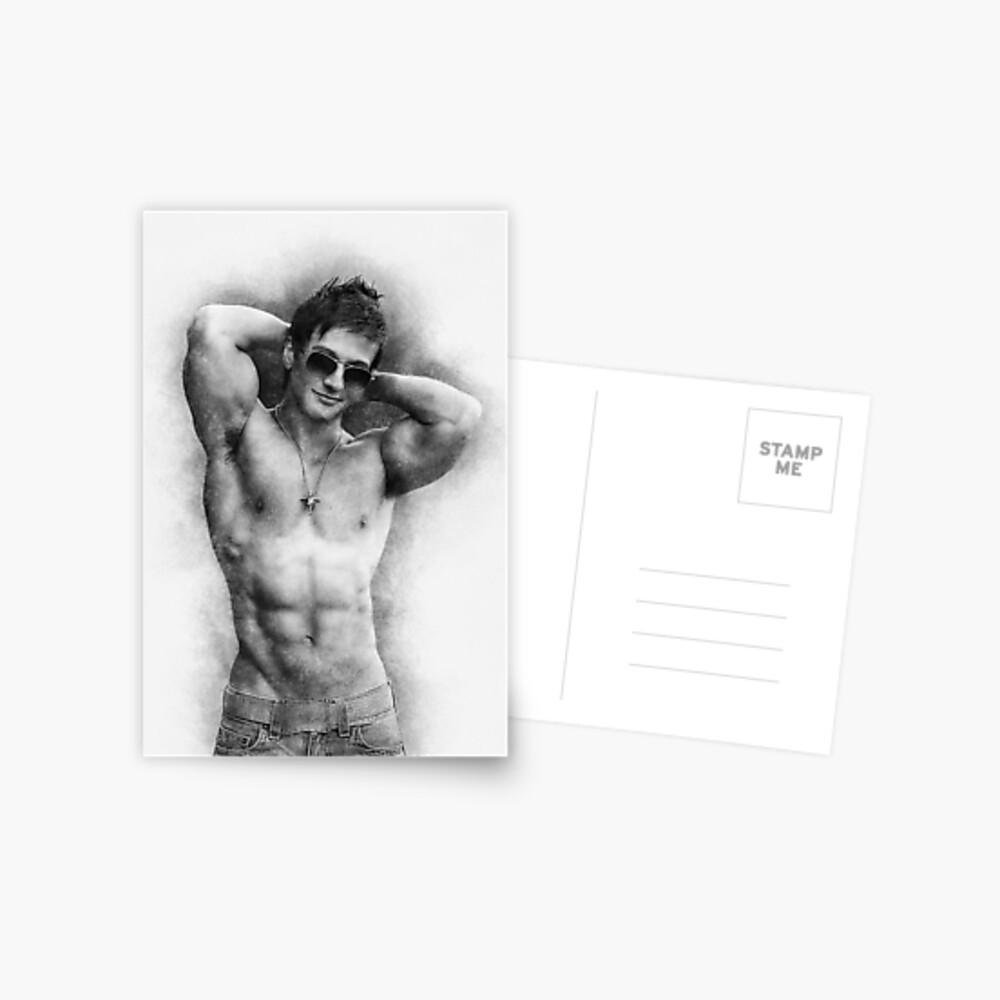 Male model Aiden sketch Postcard
