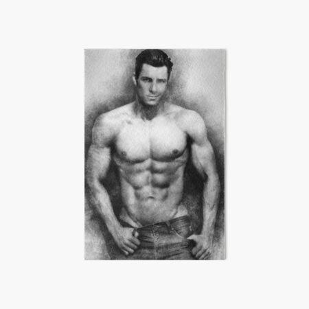 Fitness model Chris sketch Art Board Print