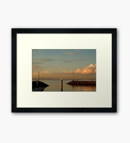 Last Ray's Limberners Point,Geelong Framed Print