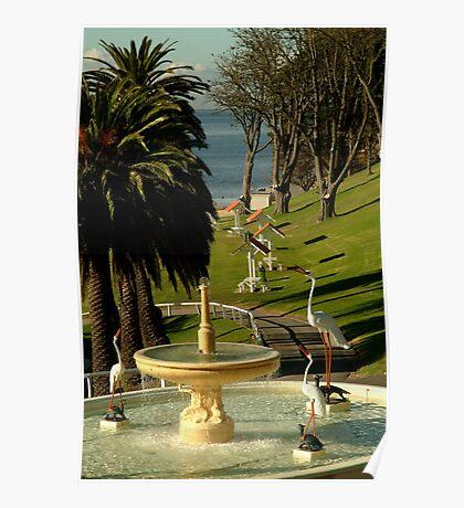 Fountain,Eastern Beach Poster