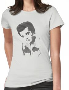 Conway Twitty Halftone Womens Fitted T-Shirt