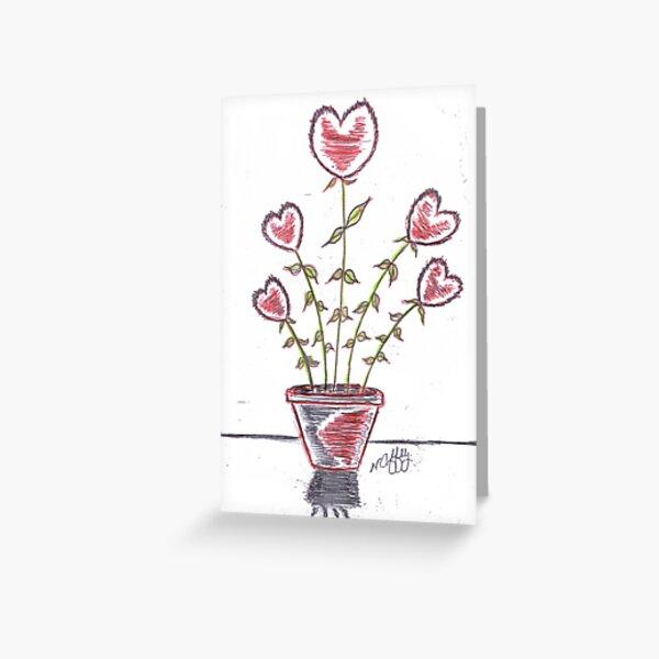 FRESH HEARTS Greeting Card