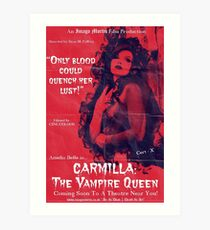 Carmilla: The Vampire Queen Art Print