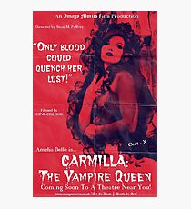 Carmilla: The Vampire Queen Photographic Print