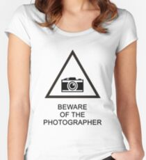 Beware of the Photographer Women's Fitted Scoop T-Shirt