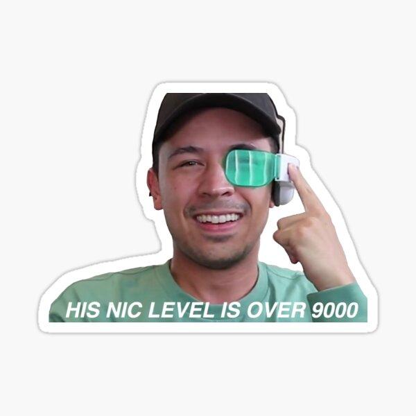 sein nettes Niveau ist über 9000 Sticker