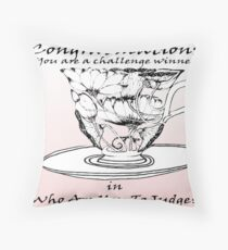 Challenge banner - WHo are you  to judge Throw Pillow