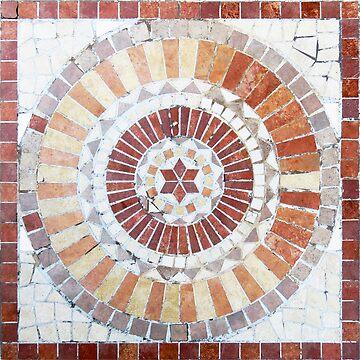 Tiled Circle in Earthtones  by MomsBoxerShorts