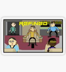 Refined in Space Transparent Sticker