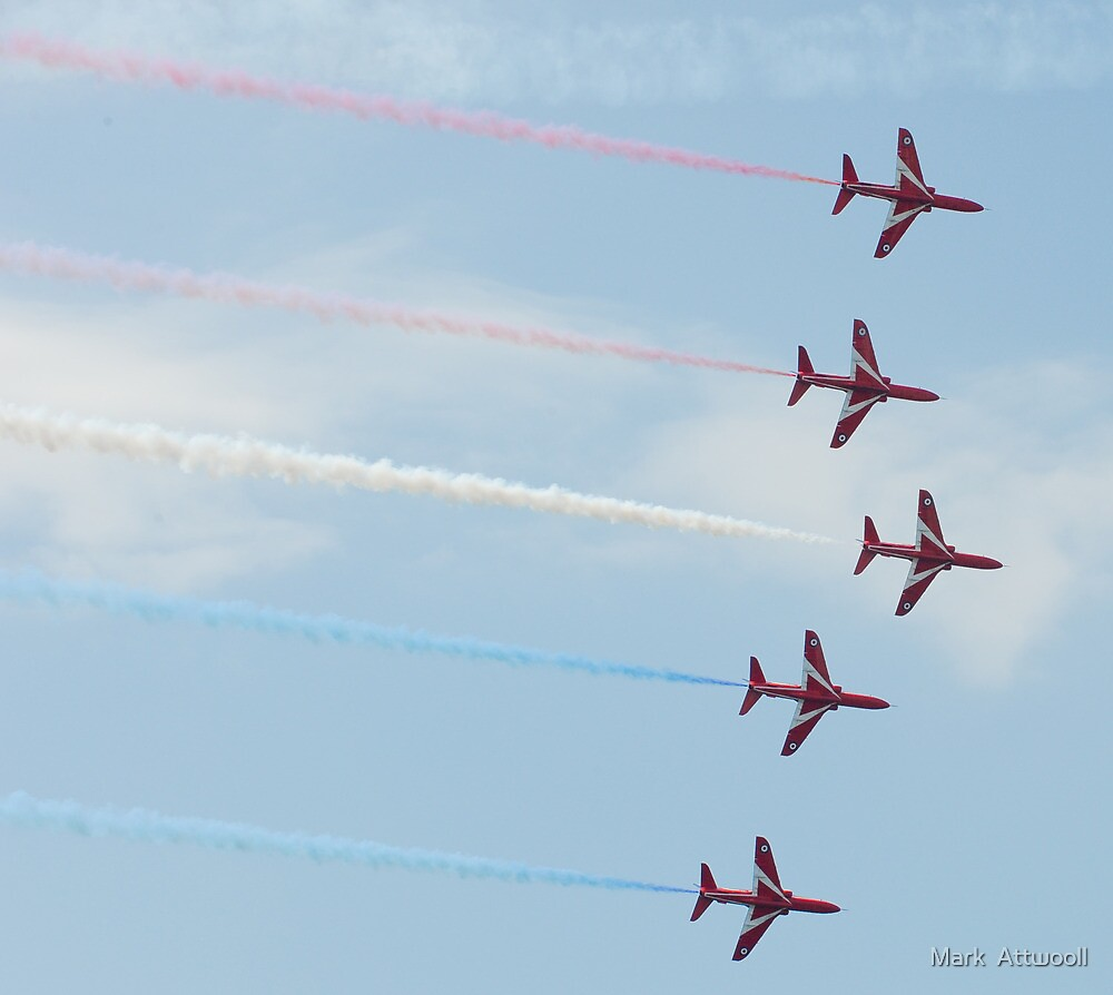 Red Arrows Display Team by Mark  Attwooll