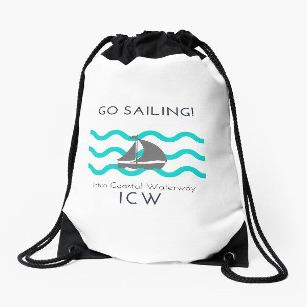 Sailing on the ICW Drawstring Bag