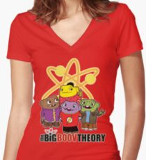 Big Boov Theory Women's Fitted V-Neck T-Shirt