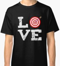 Archery Love Verein Pfeil Hobby Bogen Ziel Classic T-Shirt