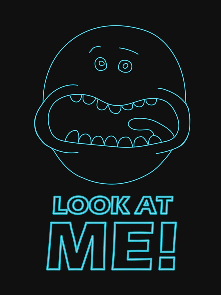 Mr. Meeseeks - Look at Me! (Aqua Neon) by danharmonsucks