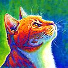 Rainbow Cat Portrait by Rebecca Wang