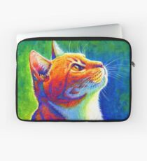 Rainbow Cat Portrait Laptop Sleeve