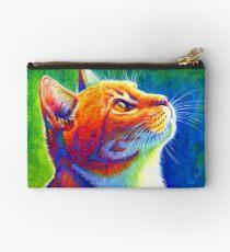 Rainbow Cat Portrait Studio Pouch