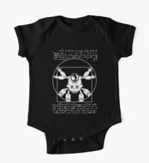 Vitruvian ribbon (white) Kids Clothes