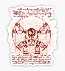 Vitruvian ribbon Sticker